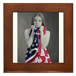 The Blanket of Freedom Framed Tile