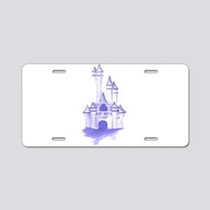 Blue Castle In The Sky Aluminum License Plate
