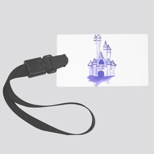 Blue Castle In The Sky Large Luggage Tag
