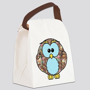 Country Rose Owl Canvas Lunch Bag