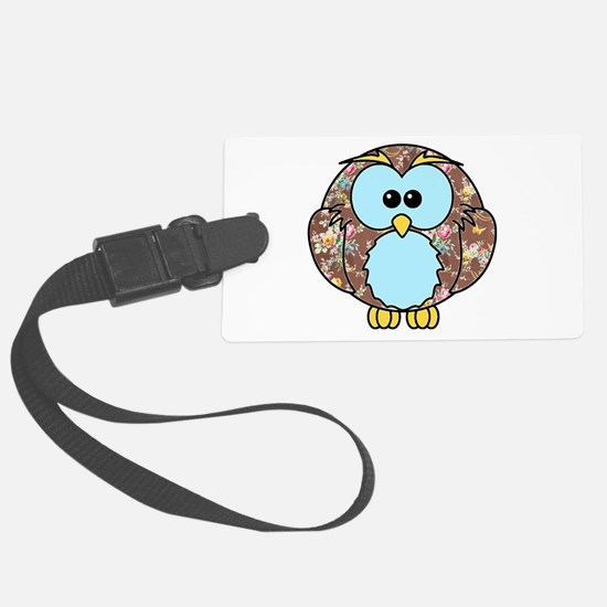 Country Rose Owl Luggage Tag