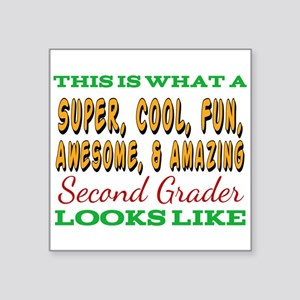 This Is What An Awesome Second Grader Look Sticker