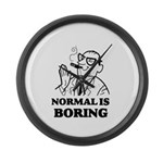 Boring is Normal 2 Large Wall Clock