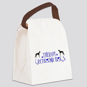 THERAPY GREYHOUND Canvas Lunch Bag