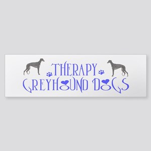 THERAPY GREYHOUND Sticker (Bumper)