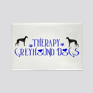 THERAPY GREYHOUND Rectangle Magnet
