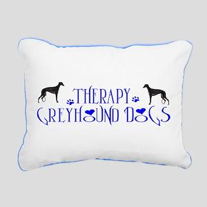 THERAPY GREYHOUND Rectangular Canvas Pillow