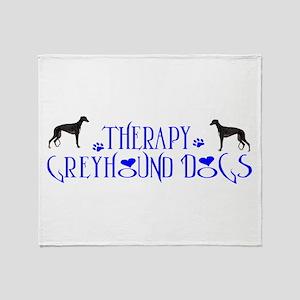 THERAPY GREYHOUND Throw Blanket