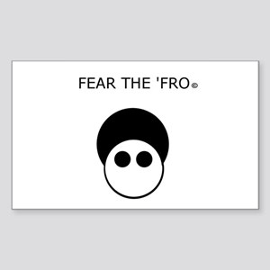 Fear the 'Fro Sticker (Rectangle)