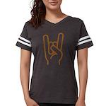 Metal Horns Womens Football Shirt