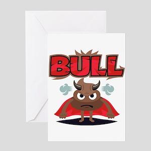 Emoji Bull Shit Greeting Card