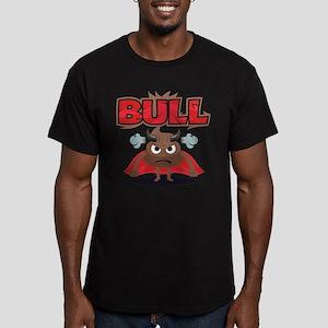 Emoji Bull Shit Men's Fitted T-Shirt (dark)