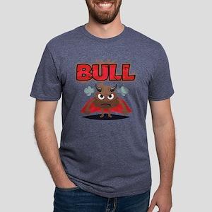 Emoji Bull Shit Mens Tri-blend T-Shirt