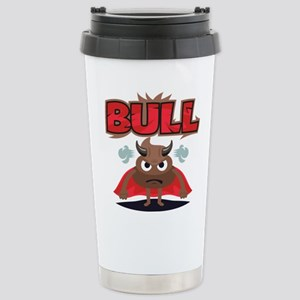 Emoji Bull Shit 16 oz Stainless Steel Travel Mug