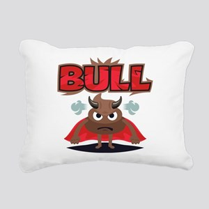 Emoji Bull Shit Rectangular Canvas Pillow