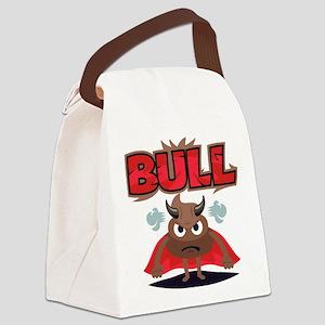 Emoji Bull Shit Canvas Lunch Bag
