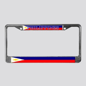 Filipino Pilipinas Blank Flag License Plate Frame