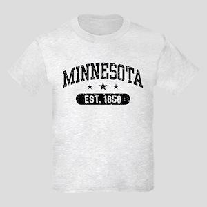 Minnesota Est. 1858 Kids Light T-Shirt