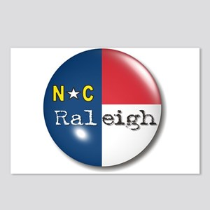 Raleigh North Carolina Flag Postcards (Package of