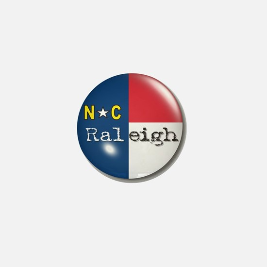 Raleigh North Carolina Flag Mini Button