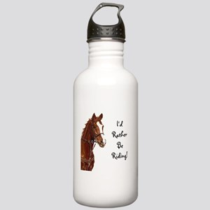 Id Rather Be Riding! Horse Stainless Water Bottle