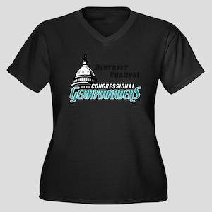 Congressional Gerrymanders Women's Plus Size V-Nec
