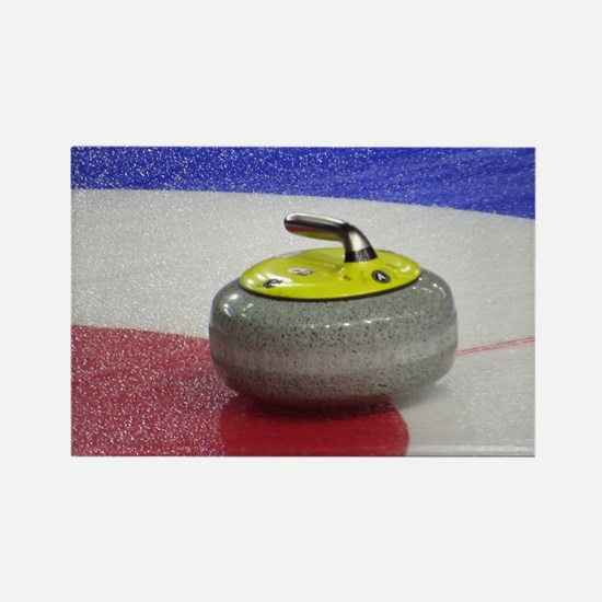 Curling rocks Rectangle Magnet