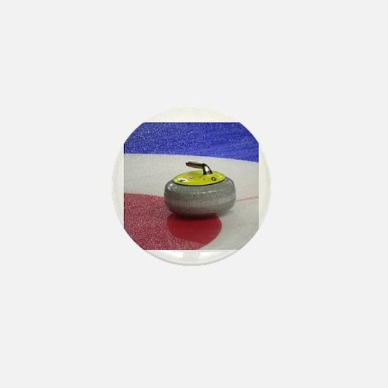 Unique Curling rocks Mini Button