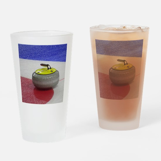 Cute Curling rocks Drinking Glass