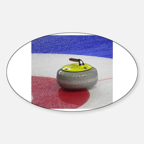 Cute Curling stone Sticker (Oval)