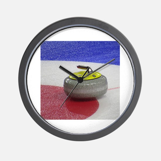 Funny Curling house Wall Clock