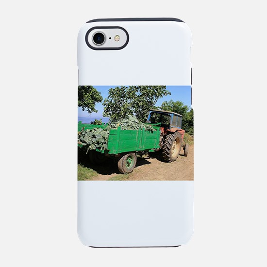 Old tractor and cart, El Camin iPhone 7 Tough Case