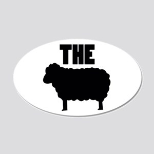The Black Sheep 20x12 Oval Wall Decal