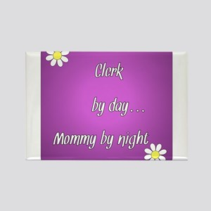 Clerk by day Mommy by night Rectangle Magnet