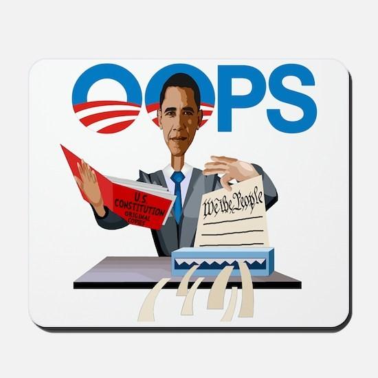 Obama at Work Mousepad