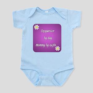 copywriter by day Mommy by night Infant Bodysuit