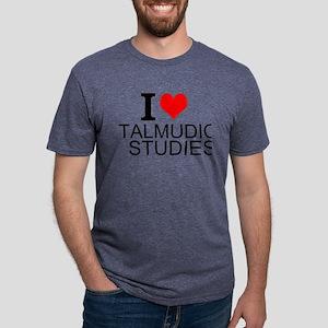 I Love Talmudic Studies Mens Tri-blend T-Shirt