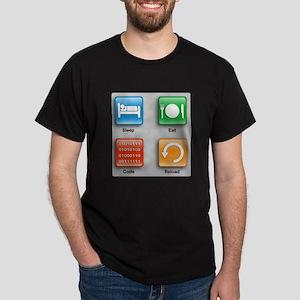 Code Monkeys Daily Planner Dark T-Shirt
