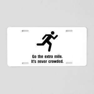 Go The Extra Mile Aluminum License Plate
