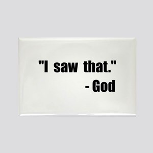 God Saw That Rectangle Magnet (10 pack)