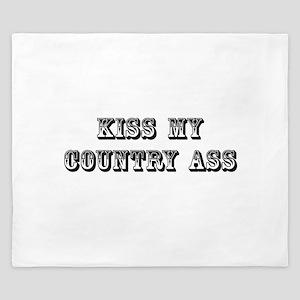 Kiss My Country King Duvet