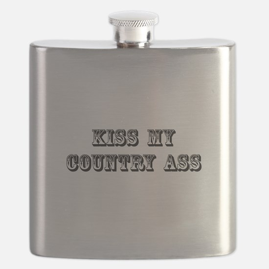 Kiss My Country Flask