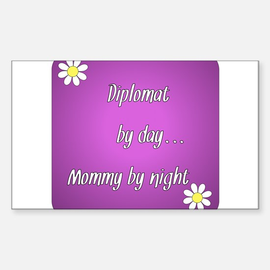 Diplomat by day Mommy by night Sticker (Rectangle)