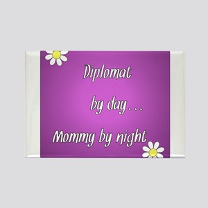 Diplomat by day Mommy by night Rectangle Magnet