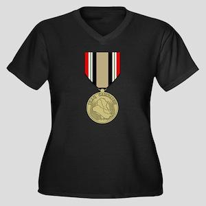 Iraq Campaign Women's Plus Size V-Neck Dark T-Shir