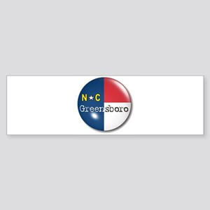 Greensboro North Carolina Flag Bumper Sticker