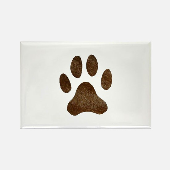 fur paw print Rectangle Magnet