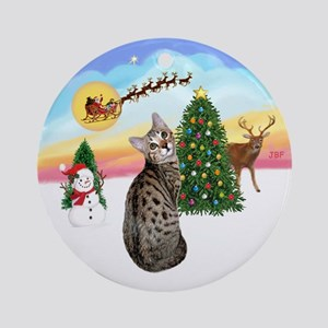 Take Off - Bengal cat Ornament (Round)