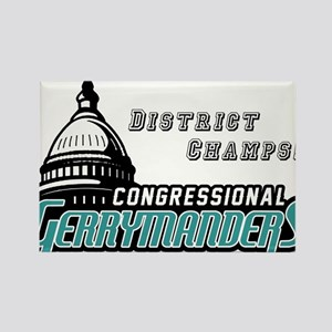 Congressional Gerrymanders Rectangle Magnet