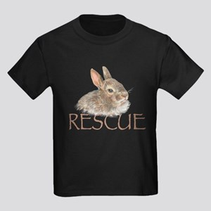 Bunny rabbit rescue Kids Dark T-Shirt